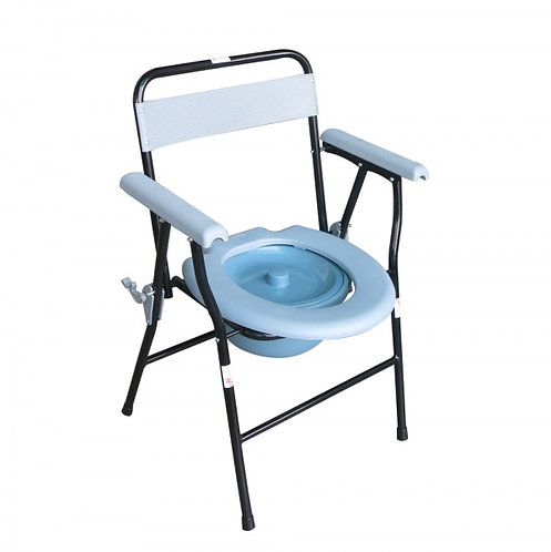 Commode Chair: Economy Folding with Backrest