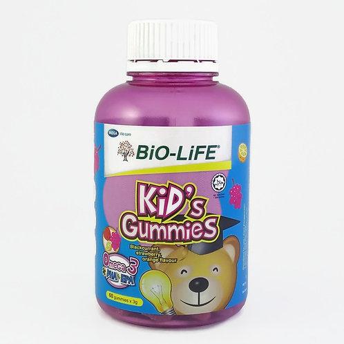 BiO-LiFE Kid's Gummies Omega-3 + DHA & EPA (60S)