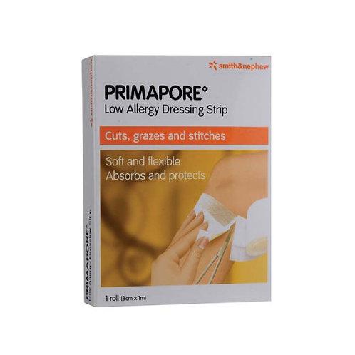 Smith & Nephew PRIMAPORE Low Allergic Dressing Strip (Roll) 8cm x 1m 1s
