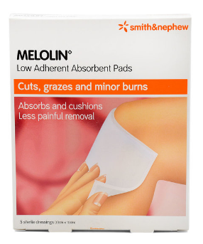 Smith & Nephew MELOLIN Low Adherent Absorbent Pads 10cm x 10cm 5s