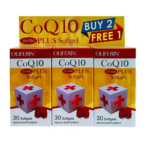 Oliferin CoQ10 200mg Plus (30s x 3) | General Health