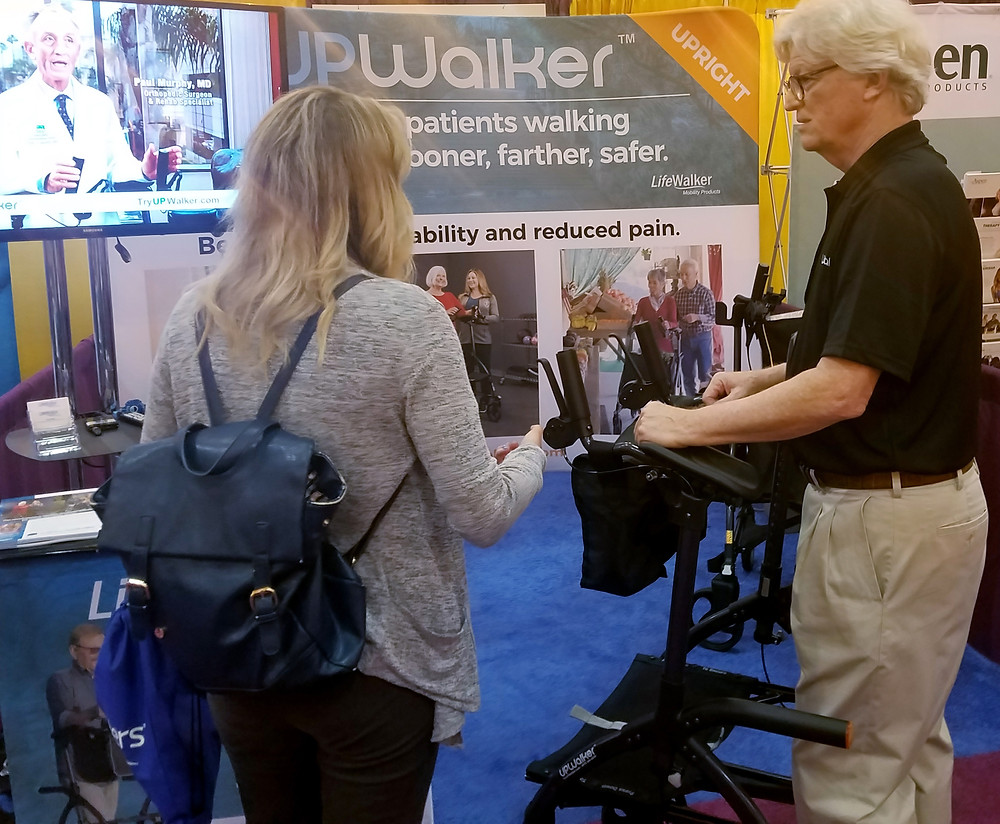 UPWalker gets positive reviews from physical therapists at APTA convention.