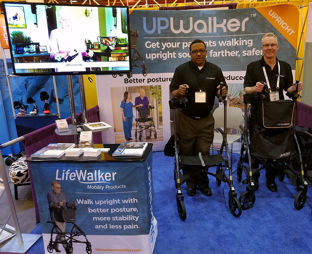 UPWalker booth at the APTA CSM convention.
