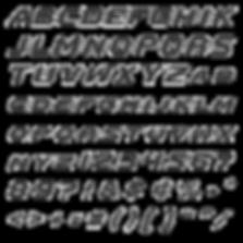 Go Pokes font alphabet sample