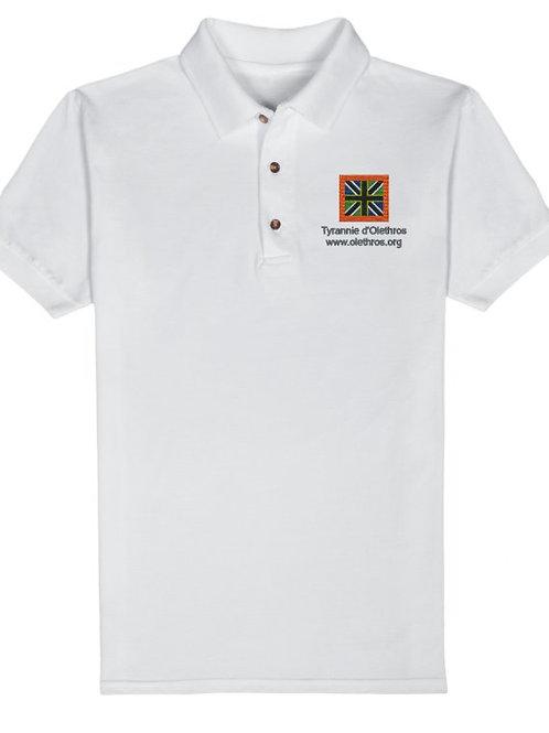 Polo blanc drapeau d'Olethros pour homme