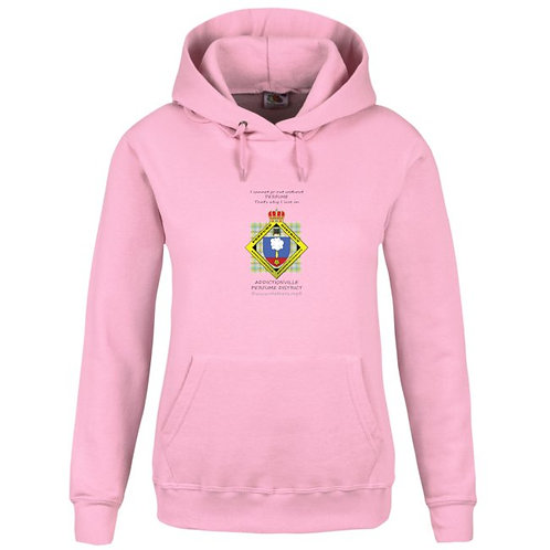 Perfume District Hoodie rose femme