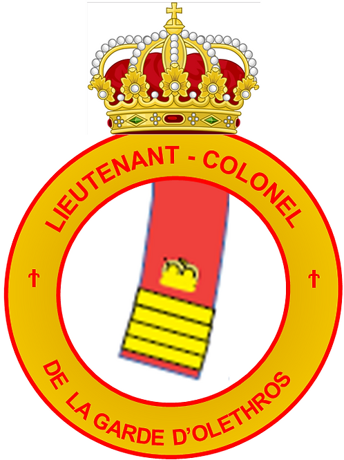Grade de Lieutenant-Colonel des Olethros Guards