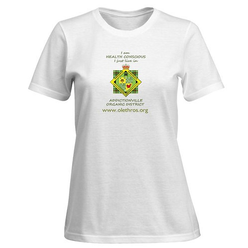 TShirt blanc Health Conscious pour femme