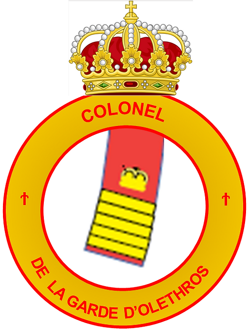 Grade de Colonel des Olethros Guards
