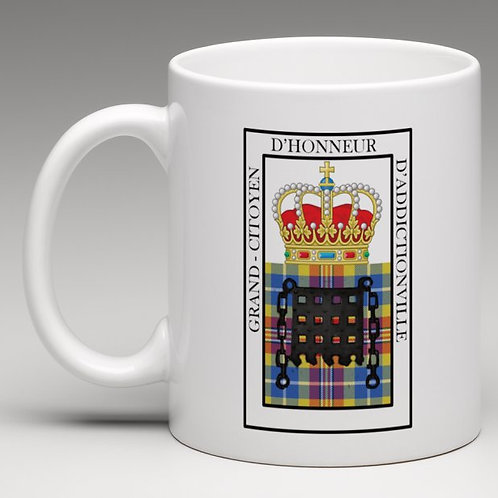 Mug de Grand-Citoyen d'Honneur d'Addictionville