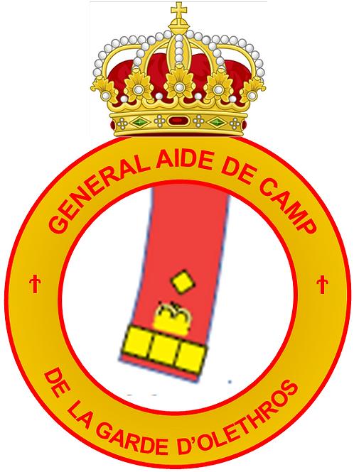 Diplôme de Général Aide de Camp (Garde)