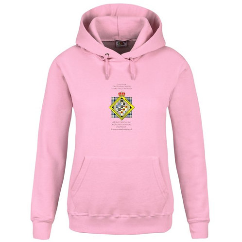 Agroindustrial District Hoodie rose femme