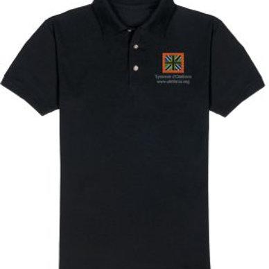 Polo noir drapeau d'Olethros pour homme