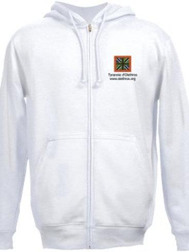 Sweat-Shirt blanc drapeau d'Olethros pour homme