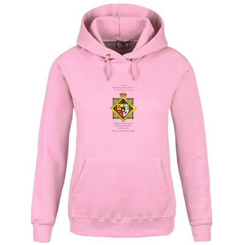 Gastronomy District Hoodie rose femme