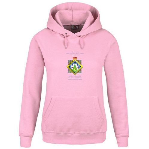 Beauty District Hoodie rose femme