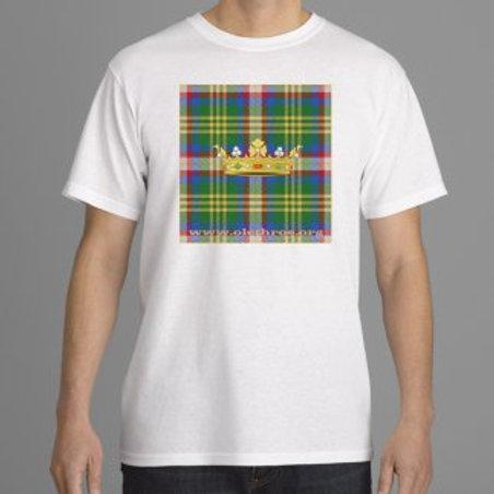 TShirt blanc tartan couronne pour homme