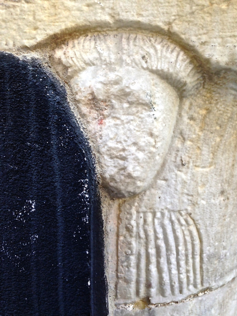 Il busto del filosofo (sulla colonna di sinistra)