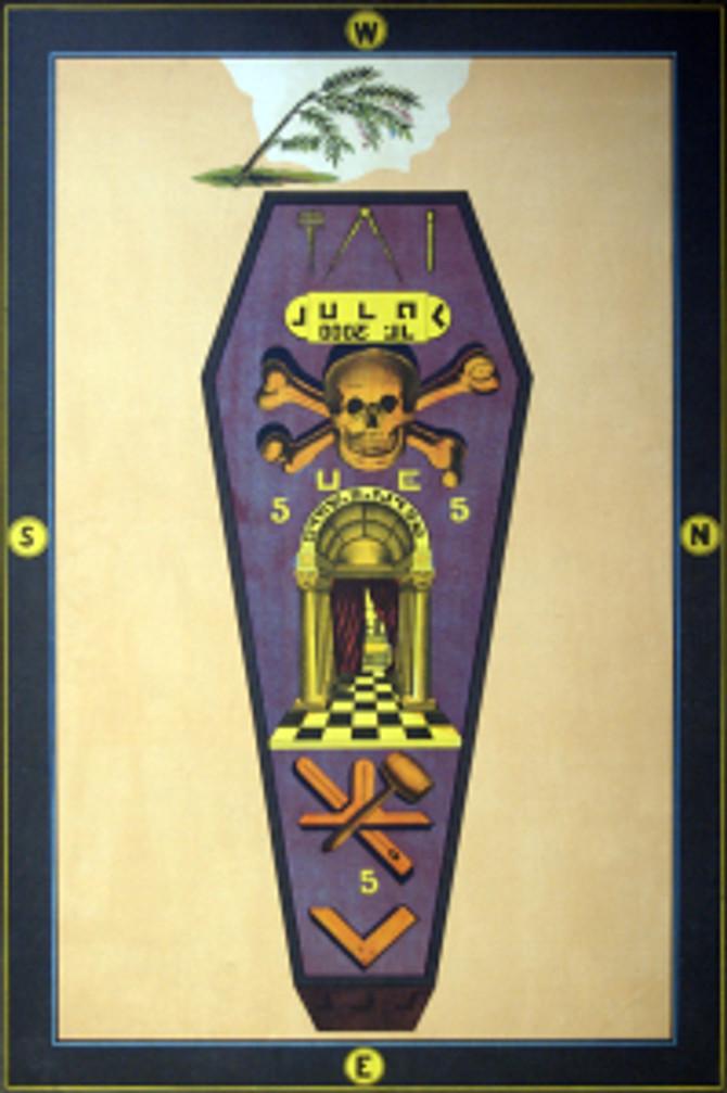 Tavola del maestro massone: nel rituale del maestro massone Hiram muore e risorge entro il maestro massone stesso che è chiamato a completare l'opera del Maestro Hiram entro la loggia.