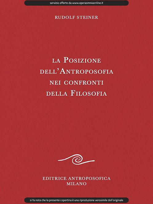 O.O. 108 - La Posizione dell'Antroposofia nei confronti della Filosofia