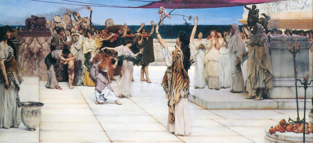 Lawrence Alma-Tadema: In onore di Bacco (1889)