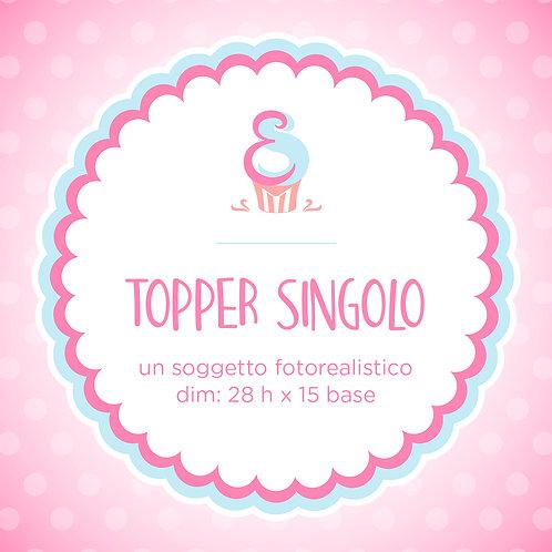 TOPPER SINGOLO | Un Soggetto Fotorealistico | Porcellana Fredda