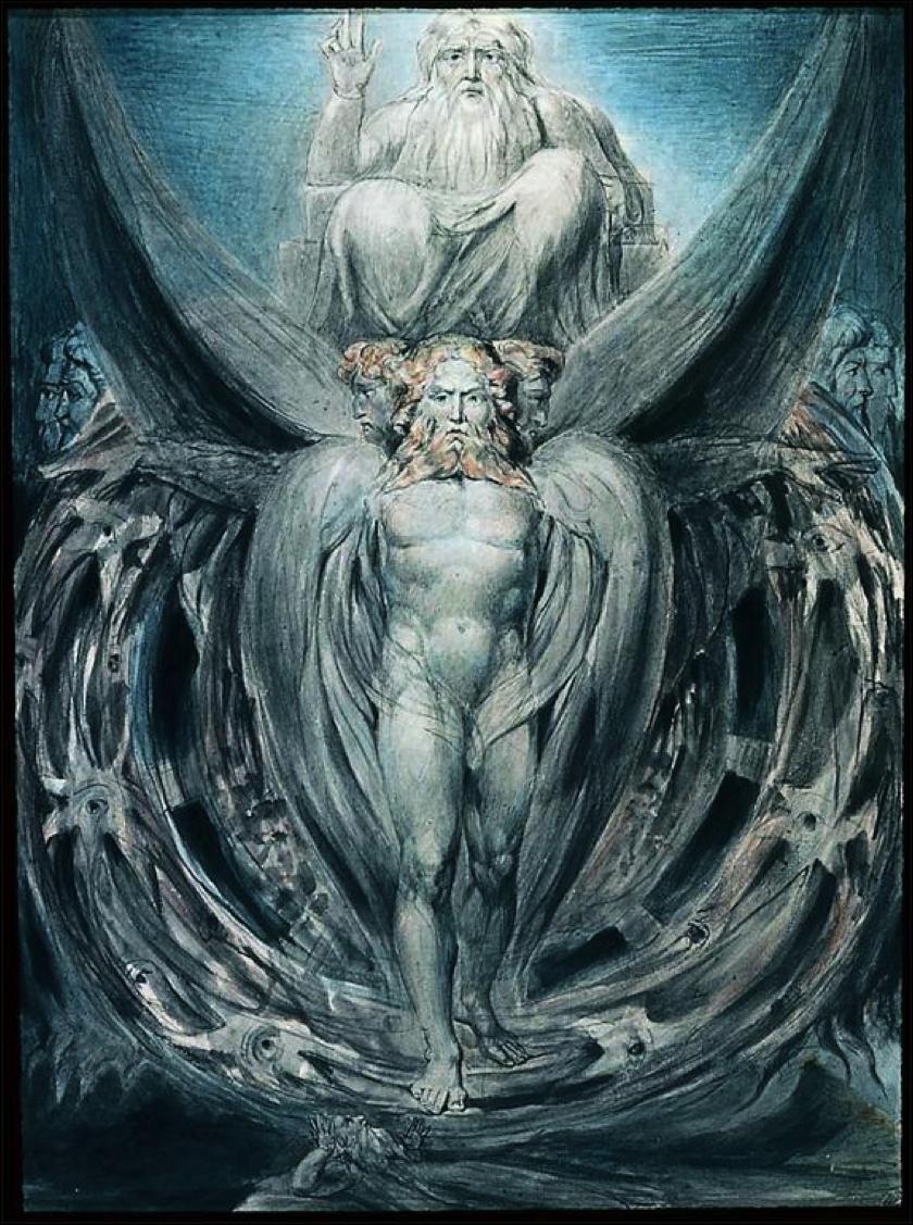 William Blake: La visione di Ezechiele (1805)