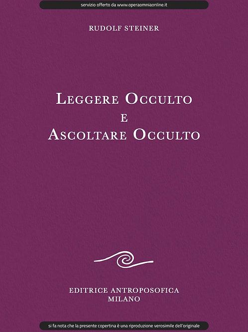 O.O. 156 - Leggere occulto e ascoltare occulto