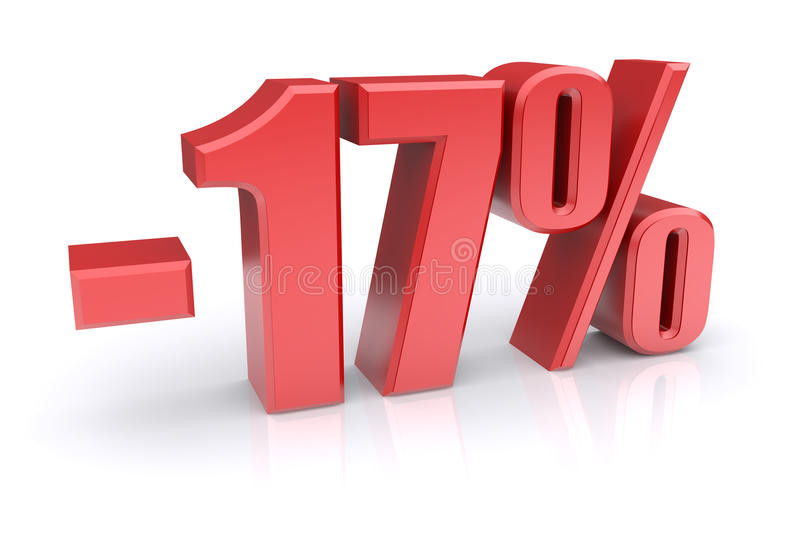 16 discount on a white stock illustration. Illustration of percent ...