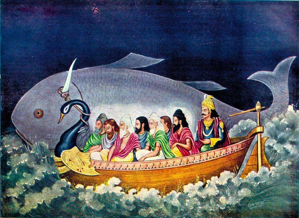 The_fish_avatara_of_Vishnu_saves_Manu_during_the_great_deluge.jpg