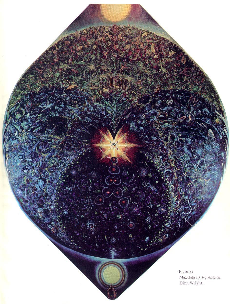 Dion Wright: Mandala tassonomico della vita sulla Terra (1966)