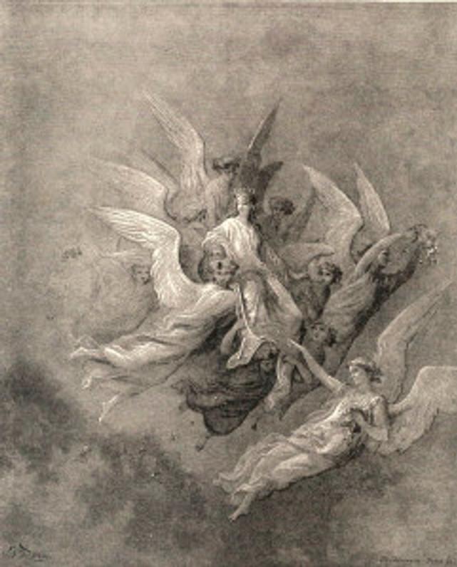Gustave Doré: Beatrice, Purgatorio, Canto XXX (1568)