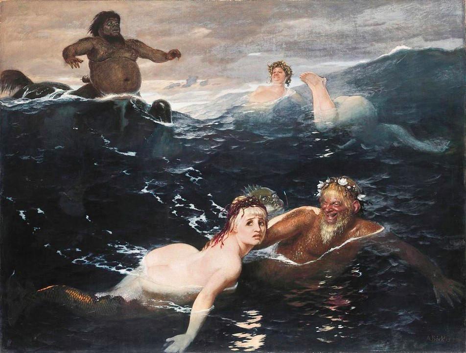 Arnold Böcklin: Gioco tra le onde (1886)