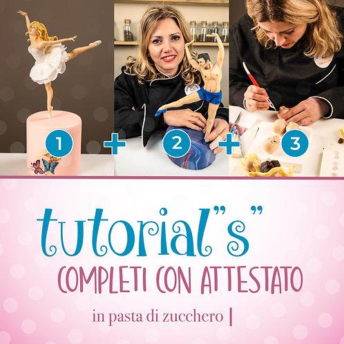 TUTORIAL COMPLETI CON ATTESTATO   Ballerina + Ballerino + Volti Realistici