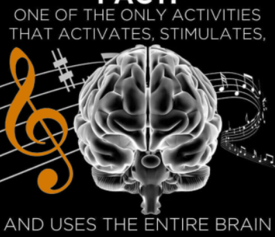 Music activates, stimulates and boosts brain power!