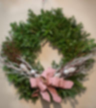 "Beautiful Fraser Fir wreaths 16"" to 60"".  All made right here in New Berlin.  Fesh evergreen garland."