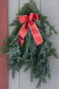 Beautiful Evergree Christmas Swags.  Fresh Evergreen garland.