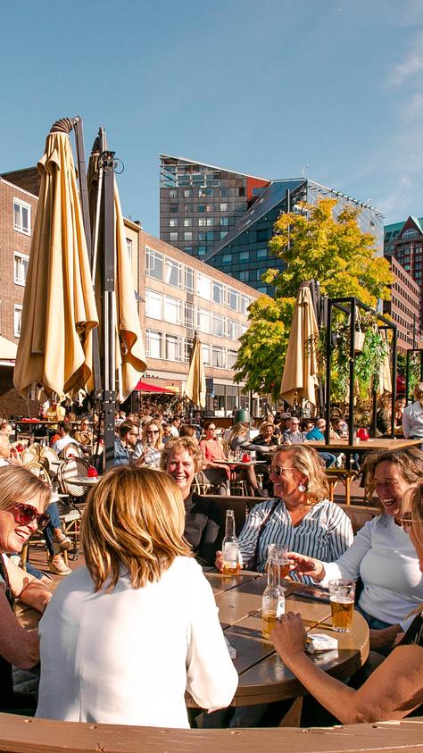 Het zonnigste terras van Rotterdam.