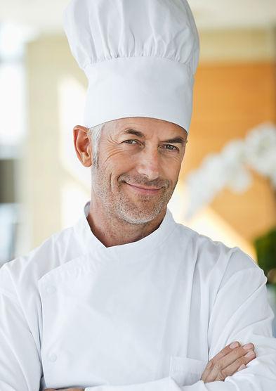 Chef avec chapeau
