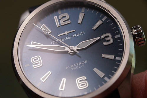 Ultramarine Albatros 9021B • Eterna Cal. 3902A • Blue Edition of 100