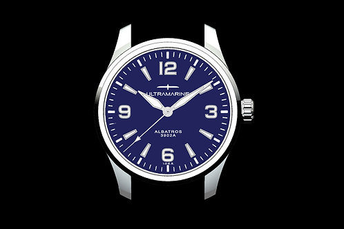 "Ultramarine Albatros 9021B ""No Date"" • Eterna Cal. 3902A • Blue Edition of 100"