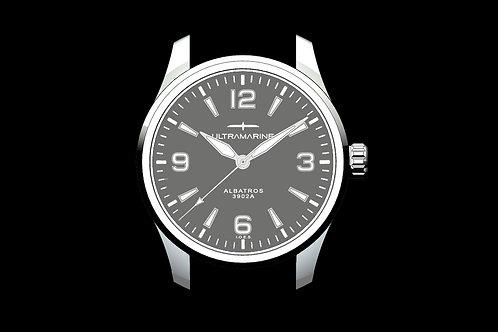 "Ultramarine Albatros 9021G ""No Date"" • Eterna Cal. 3902A • Grey Edition of 100"