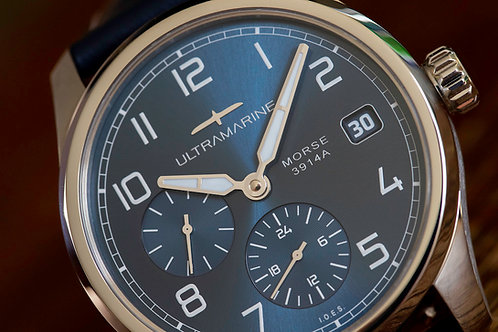 Ultramarine Morse 9141B (GMT) • Eterna Cal. 3914A • Blue Edition of 300