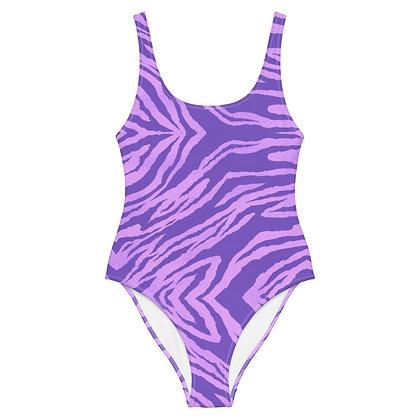PURPLE TIGER One-Piece Swimsuit