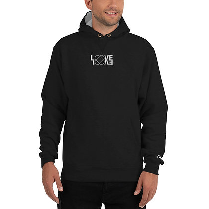 White LOVE Champion Hoodie (embroidered)