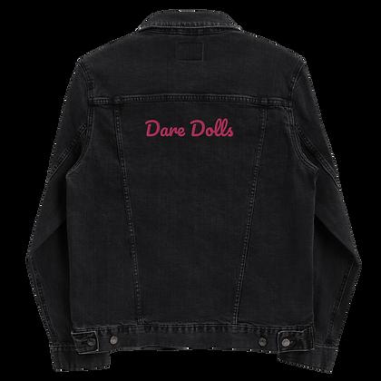 Pink Signature Unisex denim jacket (embroidered)