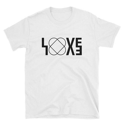 LOVE Unisex white T-shirt
