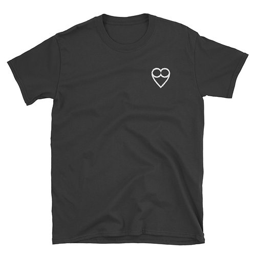 HEART Unisex black T-shirt