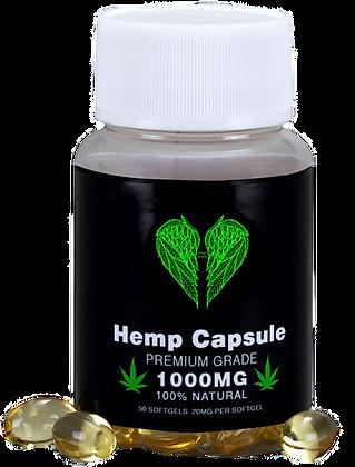 Hemp Seed Oil Capsules - Premium Grade - 100% Natural - 1000MG - 50 Softgels