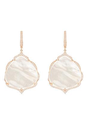 Antoinette Earrings White Mother of Pearl Rosegold